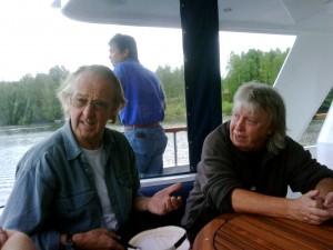 Norman Beaker with Spencer Davies
